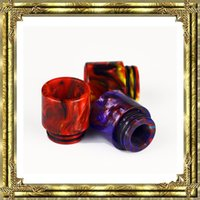 Hot Epoxy Resin drip tip Colorful Resin Wide Bore drip tips ...