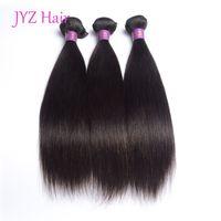 Brésilien péruvien indien malaisien droit vierge cheveux 3 bundles droites vierges cheveux vierges sans traité humaine bundles extensions