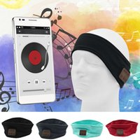Aggiornamento Stereo Sweatproof Bluetooth Music Hat Band con Sleeping Eye Mask Vivavoce Mic Sport Cuffie per musica yoga Cuffie per capelli Cuffie per MP3