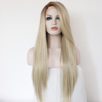Newly arrived Ombre brown blonde Synthetic Lace Front Wig He...