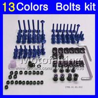 Fairing bolts full screw kit For KAWASAKI NINJA ZX10R 08 09 10 11 ZX 10R ZX-10R 2008 2009 2010 2011 Body Nuts screws nut bolt kit 13Colors