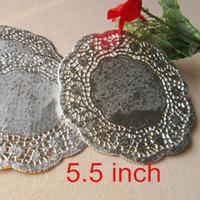 Großhandels-100 Vintage 5.5-Zoll-Silber-Papierdeckchen / Doyleys Spitze-Handwerk CH5042709