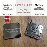 Wholesale lettrage au laser kirsite alliage auto-design chien animal tag bricolage lettre carré carré tu étiquette tag carve chiens Nom et Tel Dit-003-3