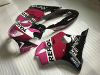 Injection kit moto pour carénage Honda CBR600 F4 1999 2000 carénages corps noir rose 99 00 mis CBR600F4