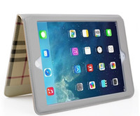For Apple iPad Mini1 2 3 4 Air1 Air2 Cover Smart Grid Patter...