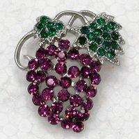 Toptan Moda Kristal Rhinestone Broş Pin Çilek Broş Takı Aksesuarları C081