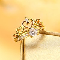 Top Quality Crown Rings 24K Gold Plated Jewelry Fashion New ...
