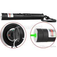 Alta Potência Laser 303 Verde Caneta Laser Pointer Foco Ajustável Combina a luz do laser Na caixa de Varejo 50 pcs DHL Frete Grátis