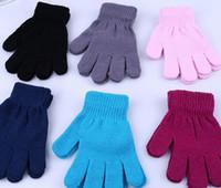 gants d'hiver chauds pour enfants gants d'hiver mitaines enfants Mitten Girl Boy Kid Stretchy gant tricoté multicolores coton tricoté gants Gratuit