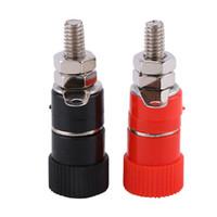 Freeshipping 100Pcs/Set Banana plug Couple Terminals Red Black Connector Amplifier Terminal Binding Post Banana Speaker Plug Jack