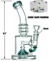 "HALF FAB EGG PERC WATER PIPE 9. 5"" NEW desigh Thick glas..."