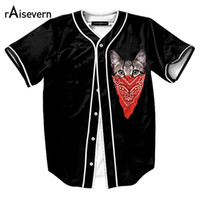 Al por mayor-Nuevos 20 Estilos Camisetas de béisbol para hombre de moda 3D gato / flor / poker / goku Imprimir Hip Hop Camisas de manga corta Tops Camisas Dropship