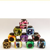New Camouflag 3*3cm fidget cube toys to combat anxiety decom...