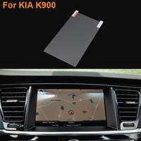 Coche que labra la película protectora de acero de la pantalla de navegación del GPS de 8 pulgadas para el control de Kia K900 de la etiqueta engomada del coche de la pantalla LCD