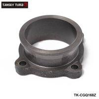 """TANSKY-Cast demir 2.5 """"4 cıvata 2.5"""" V Bant Manifoldu Turbo Şarj Adaptörü Flanş Dönüşüm Adaptörü Dönüştürme TK-CGQ168Z"""