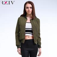 도매 - 2016 겨울 비행 육군 녹색 폭격기 재킷 여성 자켓과 여성의 코트 옷 폭격기 숙녀