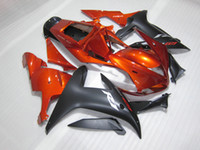 Custom Paint Bodywork för Yamaha 2002 2003 YZF-R1 Red Black Fairings Kit YZFR1 YZF R1 YZF1000 02 03 QW67