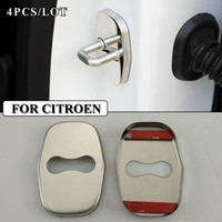 Car-Styling En Acier Inoxydable De Voiture Couvre Porte Verrouillage Autocollant Cas Pour Citroen C4 C4L DS4 DS3 DS5 C5 C2 Accessoires De Voiture Styling