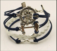Hot Jewelry Leather Rope Bracelets Bangles Charm Vintage Ret...