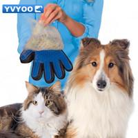 1 قطعة تنظيف فرشاة الحيوانات الأليفة الكلب تدليك إزالة الشعر الاستمالة ماجيك deshedding قفاز