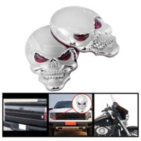 1 Unids Metal 3D Skull Car stickers Logo Emblem Badge Truck Auto Motor Car Styling Sticker Decal 3 colores