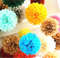 12inch Pompon 조직 종이 Pom Poms 꽃 키스 공 결혼식 파티 샤워 장식 (30cm) 20pcs / lot Mutil 색상