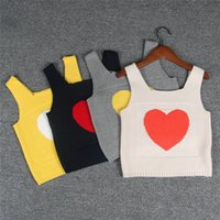 Everweekend Girls Knitted Love Sweater Tops Candy Color Spri...
