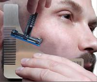 스테인레스 스틸 턱수염 쉐이핑 템플릿 빗 트림 도구 면도 도구 빗 비어 브로 남자 신사 모델링 도구 빠른 배송 ZA1979