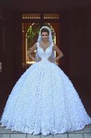 Vintage Dantel 2021 V Boyun Çizgisi Arapça Gelinlik Inciler Tül Prenses Balığa Gelin Kıyafeti Ucuz Gelin Elbiseler Artı Boyutu