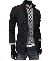 أوروبا والولايات المتحدة الشتاء الرجال الجديدة زراعة المرء الأخلاق الأزياء شخصية مزدوجة الصدر سترة / M-2XL