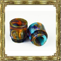 Hot sale!!! Epoxy Resin drip tip Colorful Resin Wide Bore dr...
