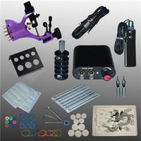 Profissional 1 Conjunto de Equipamentos Completos Tatuagem Machine Gun Power Supply Cord Kit Corpo Beleza DIY Ferramentas Frete Grátis