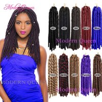 Cheap Kanekalon Synthetic braiding hair Soft Dreadlocks 14in...