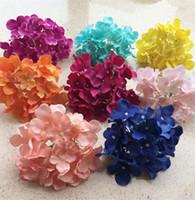 100P 가짜 수국 꽃 머리 (31 개) 색상 인공 시뮬레이션 국 꽃 웨딩 신부의 사진은 가능한 13 색 소품