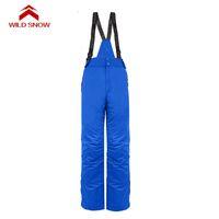 남성 스키 바지를 따뜻하게 Softshell WILD SNOW 야외 스포츠 바지 남성 하이킹 캠핑 Pantalon 트레킹 WINDSTOPPER 방수 등반
