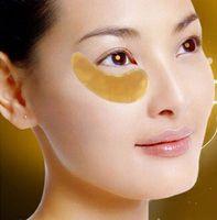 Yeni Altın Göz Maskesi Altın Kristal Kollajen Göz Maskesi Anti Karanlık Daire Nemlendirici Göz Yama