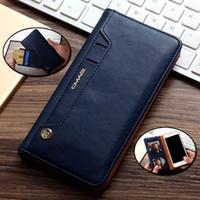 Für iPhone6 / 6S Plus 7 / 7plus Flip Stand Wallet Ledertasche mit Foto-Rahmen-Telefon-Abdeckung Telefon Fall keine Schnalle Adsorption Schwenkkarte Geldbörse cl