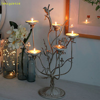 Retro Bird Nest Candle Holder Romantic Dinner Candle Stand C...