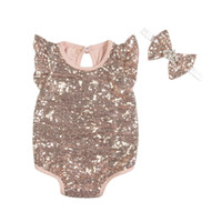 Angela Sleeve Summer Baby Girls Clothes Sequins Chic Infant ...