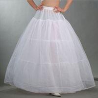 Tissu blanc 3 Hoop Bridal Robe De Mariée Petticoat Crinoline Underkirt