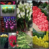 Оптовые светодиодные поддельные цветочные лампы Тюльпан форма для открытый двор газоны балкон путь украшения партии один возглавил