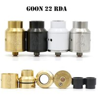 GOON 22 RDA Atomizer Clone Vape Refroidissement rétractable Atomizers E Cigarette 22mm Diamètre Fit 510 Thread Box Mods VS 24 Meilleure qualité