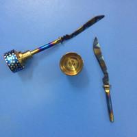 Радуга Титана карбюратора крышка dab инструмент Domeless Титана ногтей 18 мм 20 мм Титана прямой меч Dab инструмент для воска и сухой травы испарителя