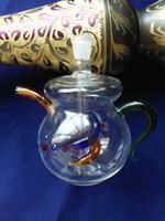 Accessoires de bongs en verre de théière, Pipes en verre multicolores multicolores Main Pipes Meilleur cuillère à soupe