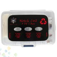 Notch Coil 3 In 1 Box Kit Auténtico Demon Killer Notch Coil SS316L Cables con Japón Muji Algodón orgánico y herramientas sin DHL