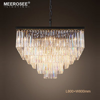 Modern Square Crystal Pendant Light Fixture Clear Crystal Su...