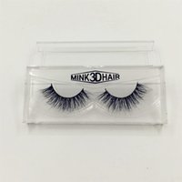 1 Pair 100% Real Mink 3D Cross Thick False Eye Lashes Extens...