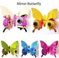 12pcs / Set Stickers Miroir Stickers muraux Decal Butterflies 3D Miroir Mur Mur Art Décors Decors Papillon Réfrigérateur Mur Decal sur la vente G660