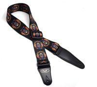 Pelle regolabile comodo il trasporto libero 150 centimetri poliestere PU Cintura Ends Tracolle Chitarre cintura per Acoustic Folk CHITARRE ELETTRICHE