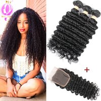 Brazilian Deep Wave With Closure 3 Bundles With Closure Deep...
